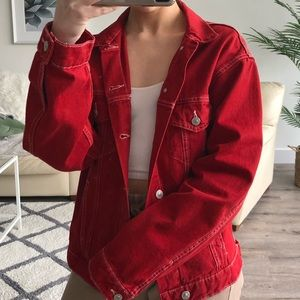 Zara Red Denim Jacket